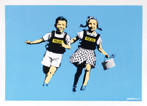 Banksy, 'Jack and Jill (Police Kids)', 2005, Black Book Gallery