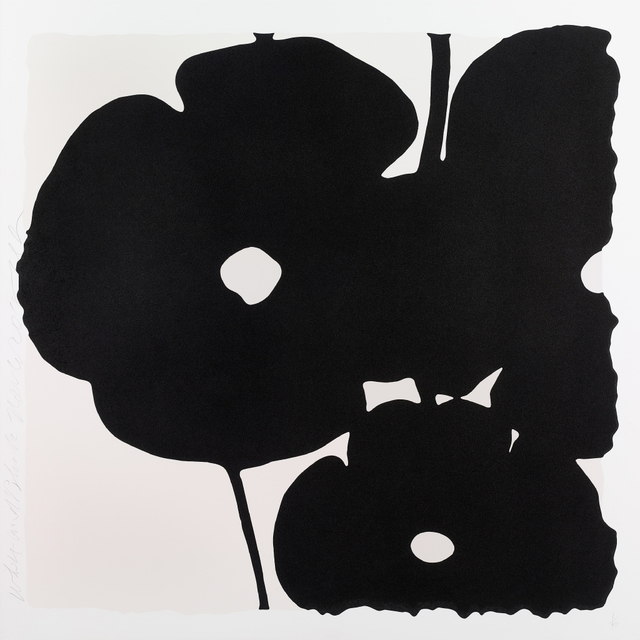 , 'Reversal Poppies: White and Black, November 6, 2015,' 2015, William Campbell Contemporary Art, Inc.