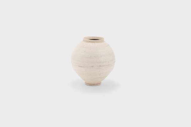 , 'White slip-brushed buncheong moon jar,' 2015, Gallery LVS