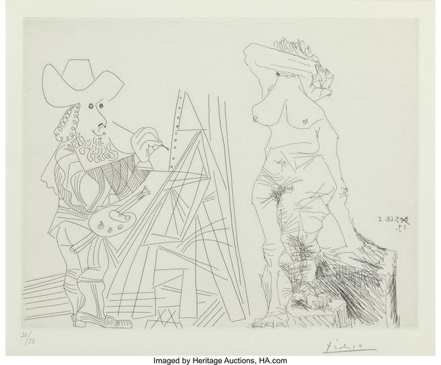 Pablo Picasso, 'Peintre et modèle qui se cache le visage (from La série 347)', 1968, Heritage Auctions