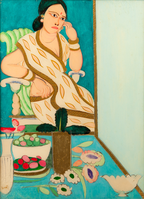 K. G. Subramanyan, 'Seated woman', 1980, Museum of Art & Photography