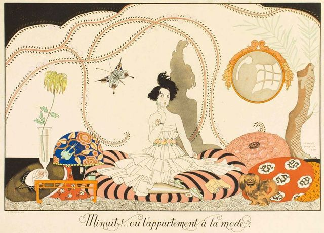 Georges Barbier, 'Minuit!.. ou l'appartement à la mode', 1920s, Wallector