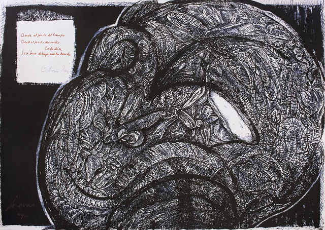 """Jose Luis Cuevas, '""""Placard Cuevas-Paz 1976""""', 1976, Galería Nudo"""