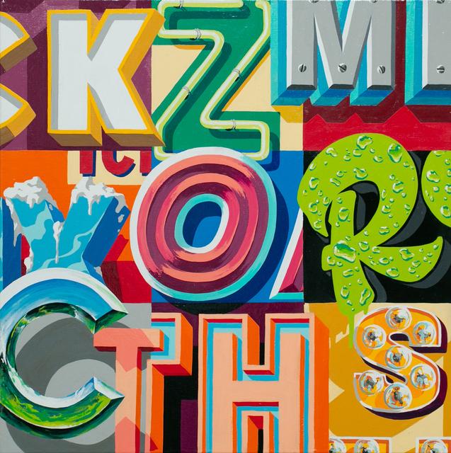 MECRO, 'Letter Study XV', 2015, Paradigm Gallery + Studio