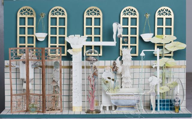 , 'Green Fountain with Windows,' 2018, Beatriz Esguerra Art