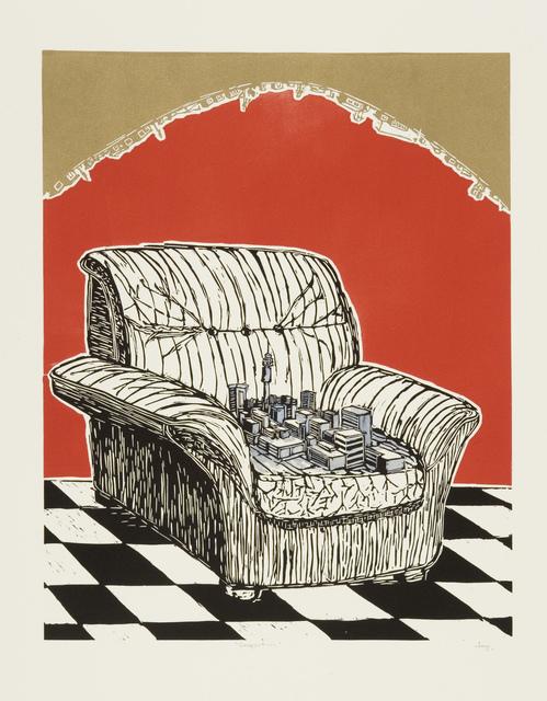 Senzo Shabangu, 'Comfort', 2011, Print, Linocut, David Krut Projects