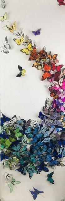 Juan Carlos Collada, 'Kaleidoscope', 2021, Mixed Media, Hand Painted Butterflies, Whistler Contemporary