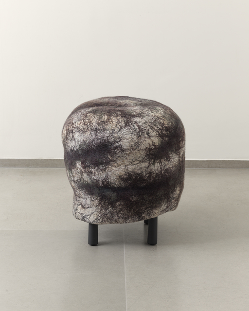 Ayala Serfaty, 'Shah Stool', 2014, Design/Decorative Art, Handcrafted wool and silk felt, metal base, Maison Gerard