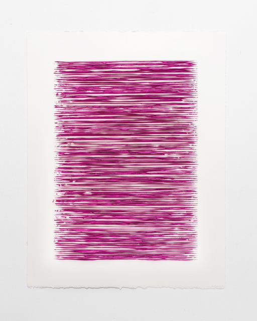 Lars Christensen, 'Color structure #10 (permanent red violet light)', 2019, Anne Mosseri-Marlio Galerie