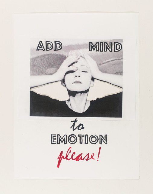 , 'add mind to emotion please!,' 2015, Galerie Clemens Gunzer