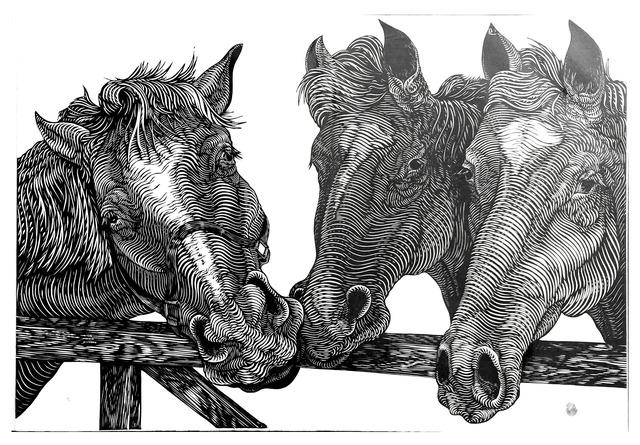 , 'HORSES,' , saltfineart