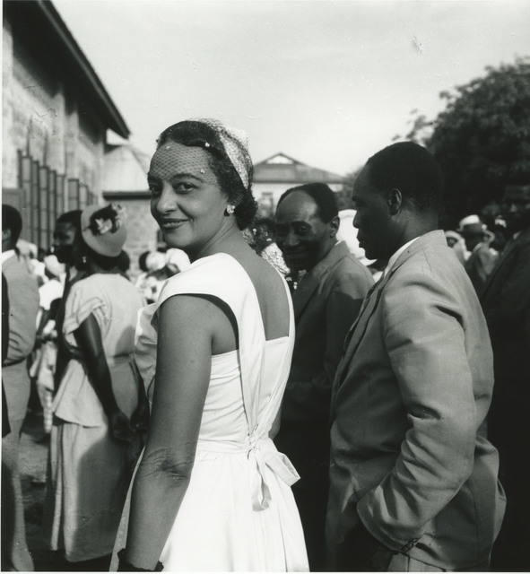 , 'Accra, Osu, c. 1955-56. Erica Powell, during a wedding at the Saint Banabas church. For nearly ten years she was Kwame N'Krumah's private secretary.,' 2017, Galerie Clémentine de la Féronnière