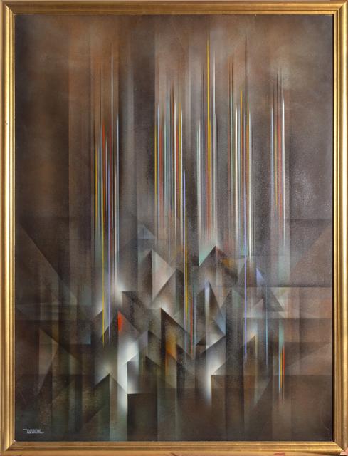 Leonardo Nierman, 'Ciudad Prismatica', 1980, Painting, Oil on Masonite, RoGallery