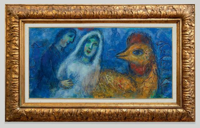 , 'The newlyweds with rooster ,' ca. 1975, Opera Gallery