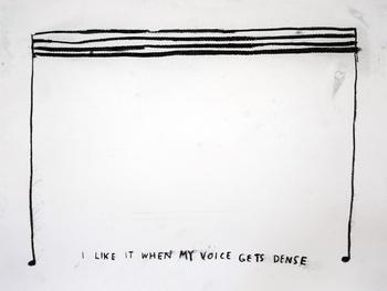 , 'I Like It When My Voice Gets Dense,' 2015, Carroll / Fletcher