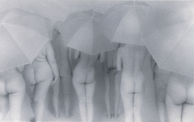 Lynn Bianchi, 'Women with Umbrellas', 1999, Photography, Silver gelatin print bathed in gold, The Untitled Space