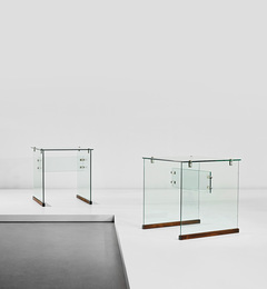 Pair of small 'Dattilo' desks, designed for the Vetrocoke offices, Milan