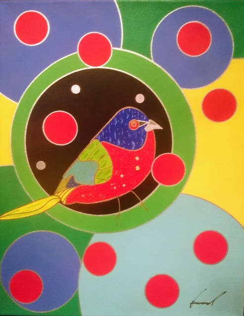 Howard Kurtzman, 'When Laura Sees a Painted Bunting, I see a Painted Bunting', 2019, Brickworks Gallery