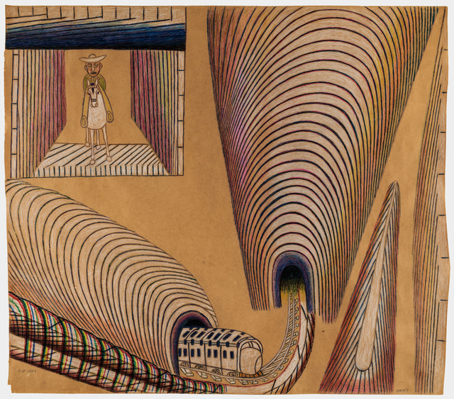 , 'Untitled (Train and Tunnels),' ca. 1954, Ricco/Maresca Gallery