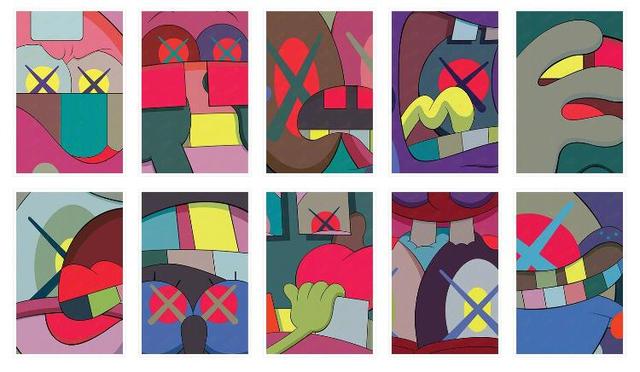 KAWS, 'Ups and Downs (portfolio of 10)', 2013, Kings Wood Art