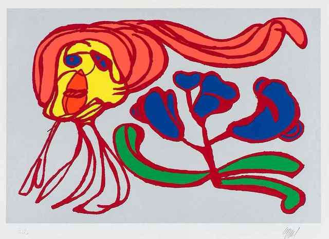 Karel Appel, 'Floating Flower Passion (Silver)', 1978-1979, Leviton Fine Art