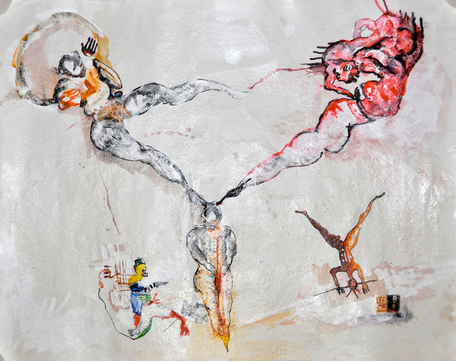, 'Deux têtes, six pieds,' 2013, In Situ - Fabienne Leclerc