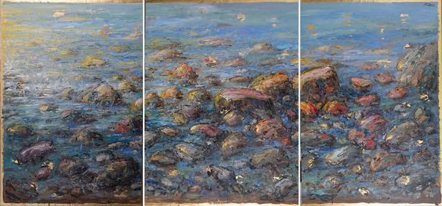 , 'Triptych: Rocks and Sea,' 2018, Galerie d'Orsay