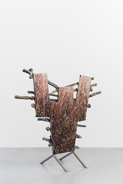 Veronica Brovall, 'I´m your man', 2015, Sculpture, Glazed ceramic, powder coated steel, digital print on aluminium, screws, Hopstreet