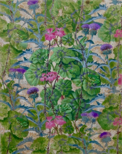 , 'Geranium and Thistle, Grasshoppers and Frogs,' , RJD Gallery