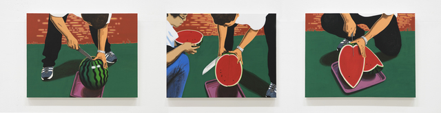 , 'I Came a Long Way to See You; Let's Share and Eat Here,' 2017, Hakgojae Gallery