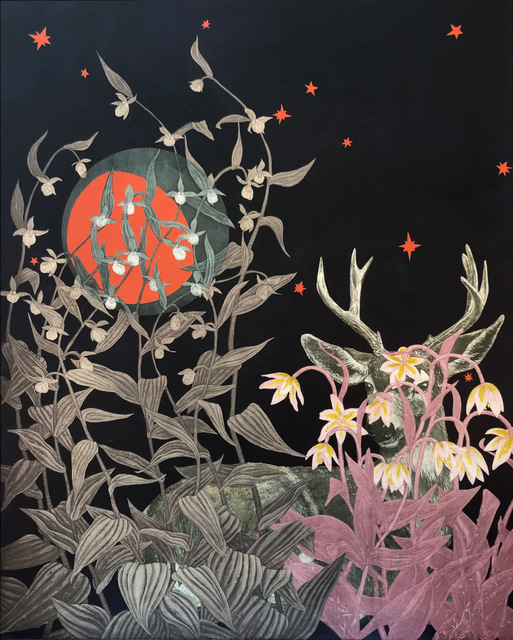 Julia Lucey, 'Black-Tailed Deer Under Three Quarter Moon', 2019, MiXX projects + atelier