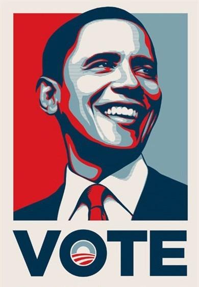 Shepard Fairey (OBEY), 'Barack Obama VOTE', 2008, Rudolf Budja Gallery