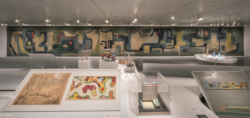 "Installation view of ""Roberto Burle Marx: Brazilian Modernist"" at Jewish Museum, New York (2016). Photo by: David Heald"