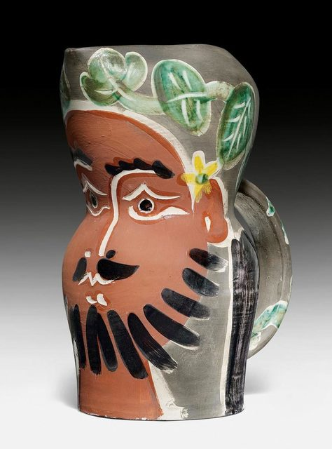 Pablo Picasso, 'Le barbu', 1953, Design/Decorative Art, Pitcher. Ceramic painted in red, green, yellow, grey, black and white, partly glazed.  Decorated in engobes and knife engraved., Koller Auctions
