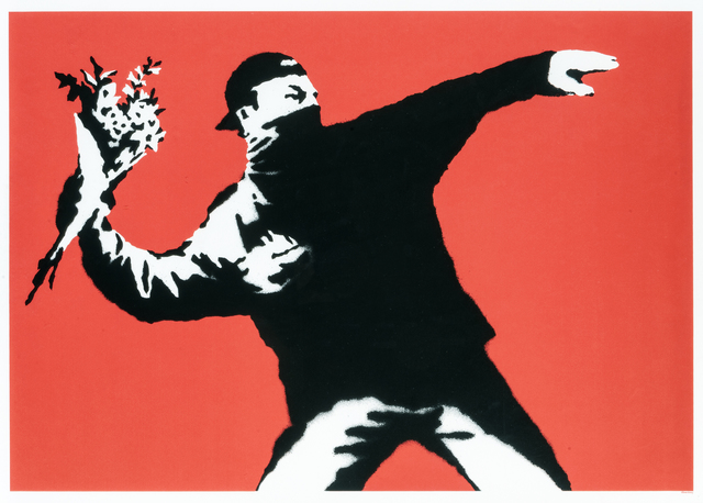 Banksy, 'Love Is In The Air', 2003, Tate Ward Auctions
