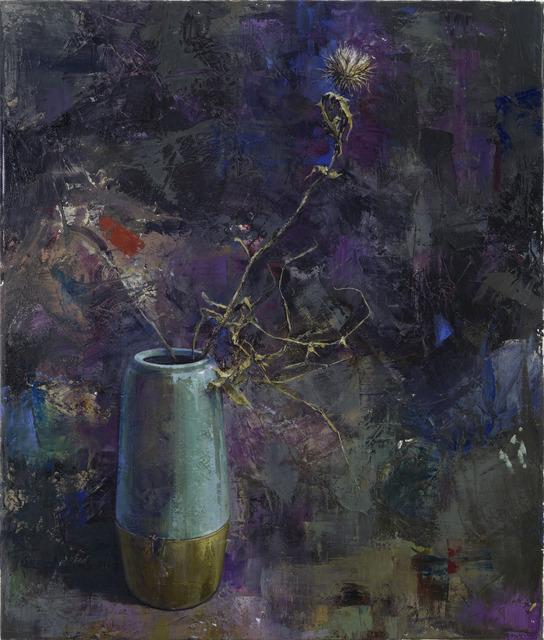 Katrin Brause a.k.a. Heichel, 'Vase mit Distel', 2018, Painting, Oil on canvas, Josef Filipp Galerie