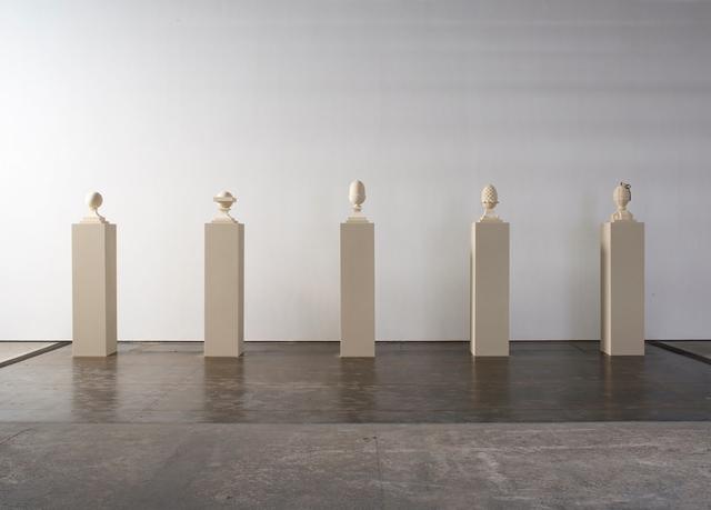 , 'Five Finials,' 2001, Ingleby Gallery