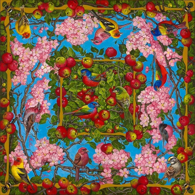 , 'Apple Blossoms with Birds and Bees,' , Miller Gallery