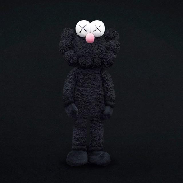 KAWS, 'BFF Plush (Black)', 2016, Sculpture, Plush, Lucky Cat Gallery