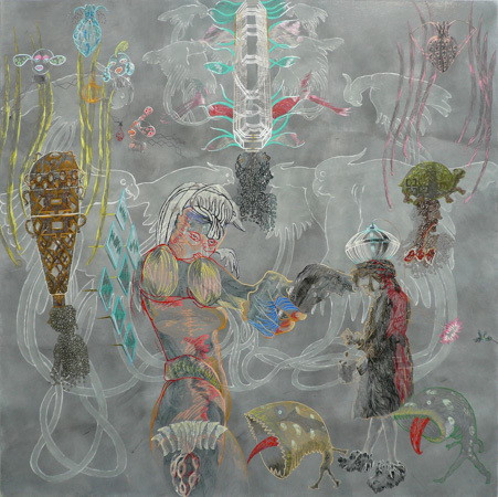 , 'Ashaka Chronicle 2,' 2011, Galerie Gisela Clement
