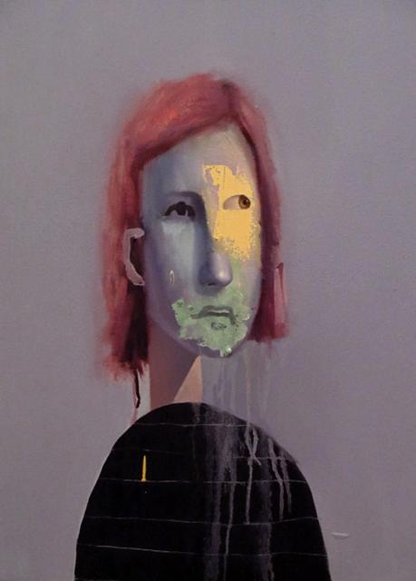 , 'Untitled Portrait with Yellow-Orange Drip and Purple Painted Nose,' , envoy enterprises