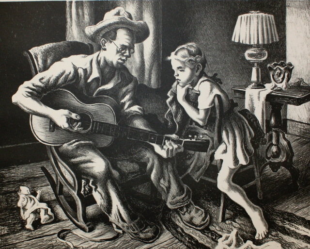 Thomas Hart Benton, 'The Music Lesson', 1943, Aaron Galleries