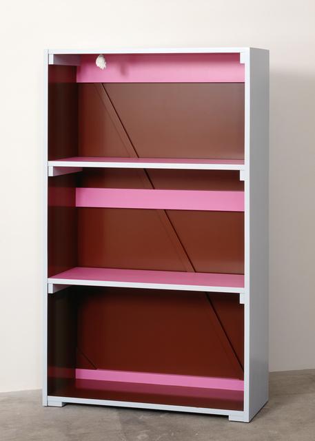 , 'Untitled (Dieses Bücherregal diente als Versteck zum Eingang des geheimen Nebengebäudes...),' 1990, Galerie Isabella Czarnowska