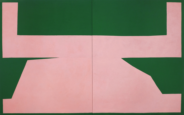 , 'Pink on Green I,' 2017, Tappan