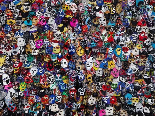 , 'Mexican Wrestling Masks,' 2015, HDM Gallery
