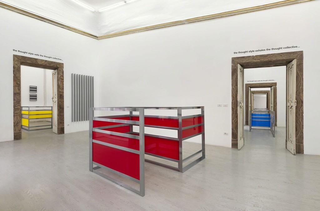 Liam Gillick - four developments and a thought collective - partial view of the exhibition - September 2015 - Galleria Alfonso Artiaco, Napoli