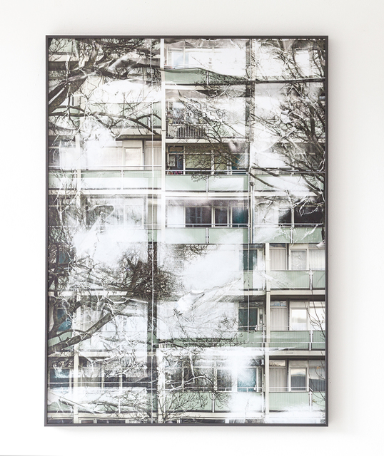 , 'Crumpels Series | a multistory building with green railings,' 2017, DAS ESSZIMMER