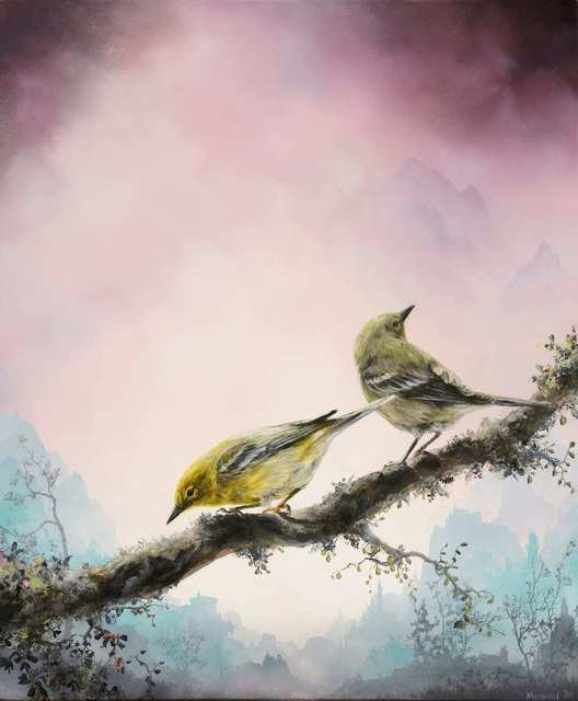 Brian Mashburn, 'Spring (Pine Warblers)', 2020, Painting, Oil on panel, Haven Gallery