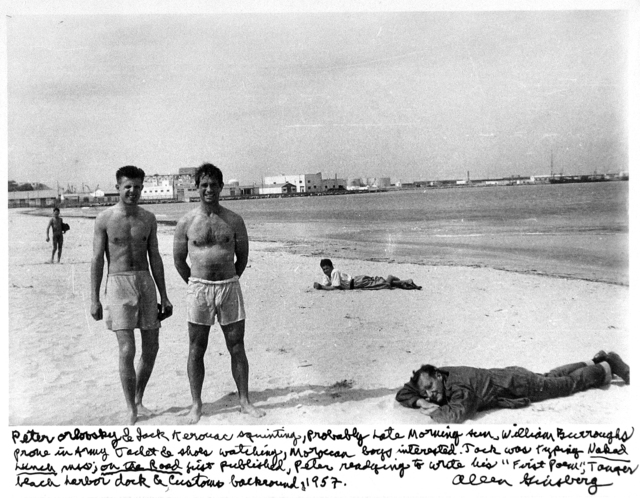 Allen Ginsberg, 'Peter Orlovsky & Jack Kerouac squinting, William Burroughs, Moroccan boys interested, Tanger', 1957, Howard Greenberg Gallery