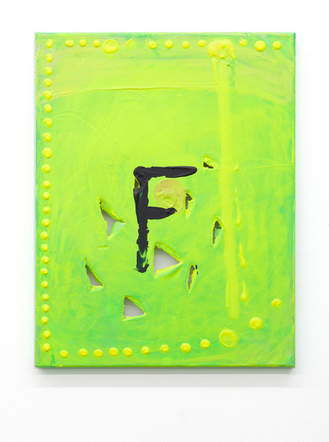 , 'F,' 2014, Micky Schubert